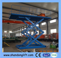 hydraulic elevator car folding tables