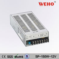 WEHO 150W single output with PFC Function 12v dc led driver power supply