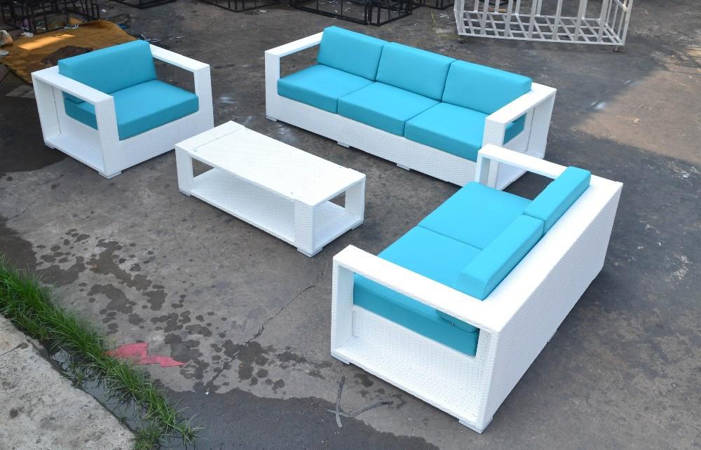 High quality modern outdoor furniture rattan leather sofa for High quality outdoor furniture