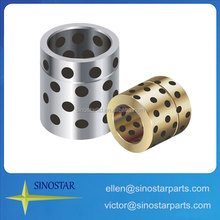 solid-Lubricants oil groove cast bronze bushing