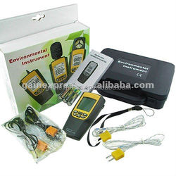 Digital K / J Type Thermocouple Thermometer Celsius Fahrenheit Temperature 4 Probes