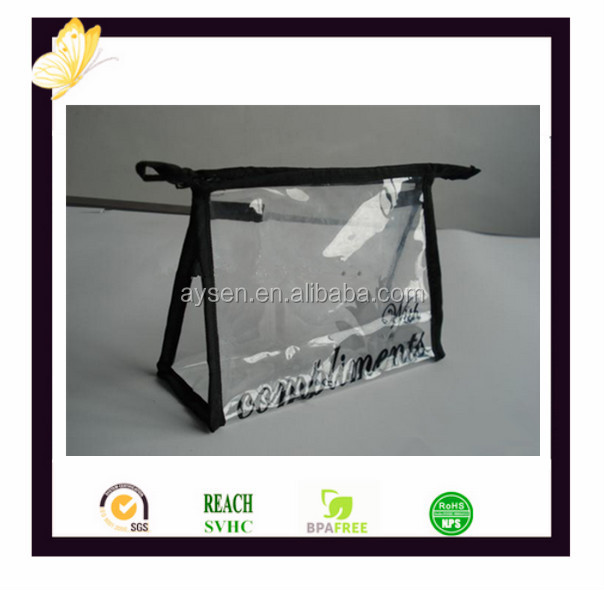 Pvc transparente con cremallera bolsa packaging