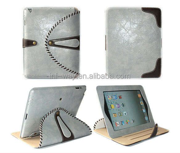 case for ipad mini,stylish leopard for ipad 3/ipad 4 rotating leather case