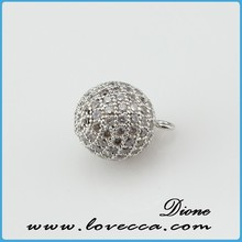 2015 New Arrival !!! round cross spacer beads Fashion design jewelry accessories round diy beads with cz pave