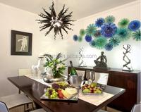 Modern folk art hand blown black glass chandelier for living room