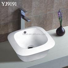 YJ9191 Hot sale bathroom ceramic hand wash basin portable hair washing