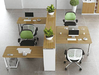 high quality modern style four people seats wooden office workstation
