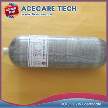 30MPa Composite gas tank, 9L Aluminium liner fully wrapped carbon fiber gas cylinder