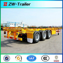 3 axle container chassis