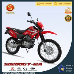 200cc Off-road Dirt Bike,200cc Pit Bike for Adults Powerful Motorcycle SD200GY-12A