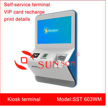 1135$/unit Standard Wall Mounted Card Payment Touch Screen Kiosk PCI 3.0 Encrypting PIN PAD EPSON Printer Free SDK High Quality