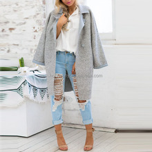 Fashion grey color long style wholesale winter coats for women 2015