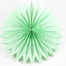 "12"" Mint Paper Honeycomb fan Decorations for Events"