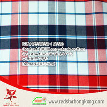2015 hot sale 100% cotton long stapled colourful check fabric