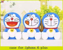 wholesale cute 3D Doraemon silicone cell phone case for iphone 6 plus