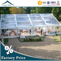 professional design large clear roof carpa tent