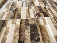 Emperador light and dark marble tile mosaic, crema marfil & dark emperador marble mosaice