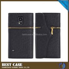 Mobile phone accessories elegant design flip leather back cover for samsung s5 i9600