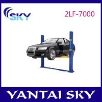 2015 hot sale mechanical car lift, two posts floor-plate lift, 2 pole car lift