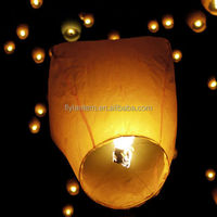 white paper chinese lanterns sky fly candle lamp for wish party wedding decoration
