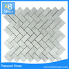 2015 hot selling carrara herringbone floor marble tile
