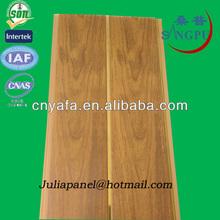 de madera del pvc panel de techo de nuevos diseños