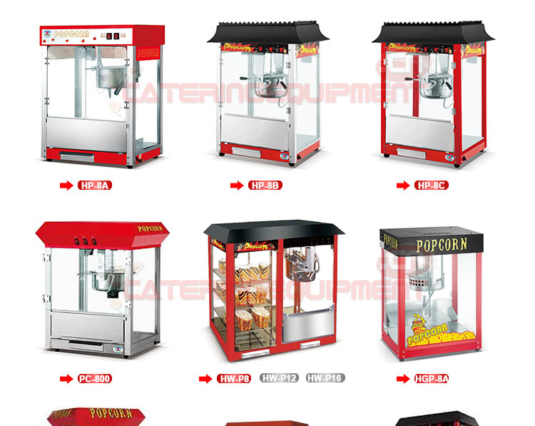 HW-P8 8 Oz Commercial Popcorn Machine