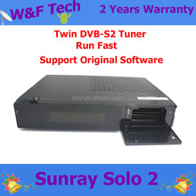 2015 in stock sunray solo 2 twin uners DVB-S2 1300MHZ support 3D,IPTV wifi lonrisun solo2