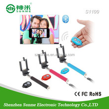 Selftimer Stick Monopod Clip Holder Bluetooth Self-Timer Shutter Remote for IOS Android Phones