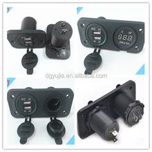 Waterproof Car Lighter Socket Splitter, 2 Way Socket Cigarette Lighter adaptor/Car Power Splitter