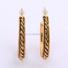 Cheap Wholesale Stud Earring Fashion Gold Plated Zinc Alloy Girls Daily Wear Earrings
