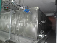 Food grade combined stainless steel panel water tank for drinking water storage with CE&ISO