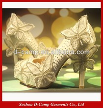 WS-015 Beautiful butterfly high heels shoes butterfly wedding shoes