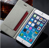 Luxury Book Stand PU Leather Phone Bag Case for iPhone 6, Flip Cover Case for iPhone6 with Card Slot