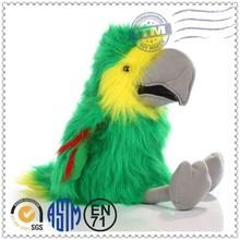 custom high quality promotion green bird plush toy