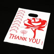 22cm*30cm HDPE Thank You Shopping printed bags 100pcs/bag