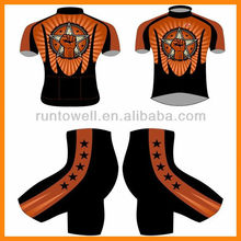 2012 New Arrival sublimation cycling wears/cycling wear skin suit/cycling wear short pad chamois pad