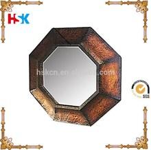 Octangle espejo de la pared, marco del espejo único, espejo de pared decorativos