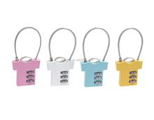 Wholesale Zinc alloy 3-dial clothing shape luggage lock