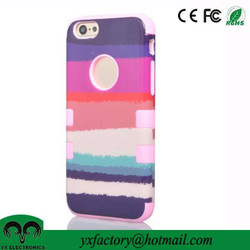 shenzhen mobile phone accessory factory bulk fancy pc silicon cover for iphone 6 wholesale