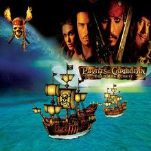 3D Pirates Caribbean wallpaper for kids bedroom