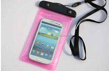 High grade pink water proof phone cover pvc bag