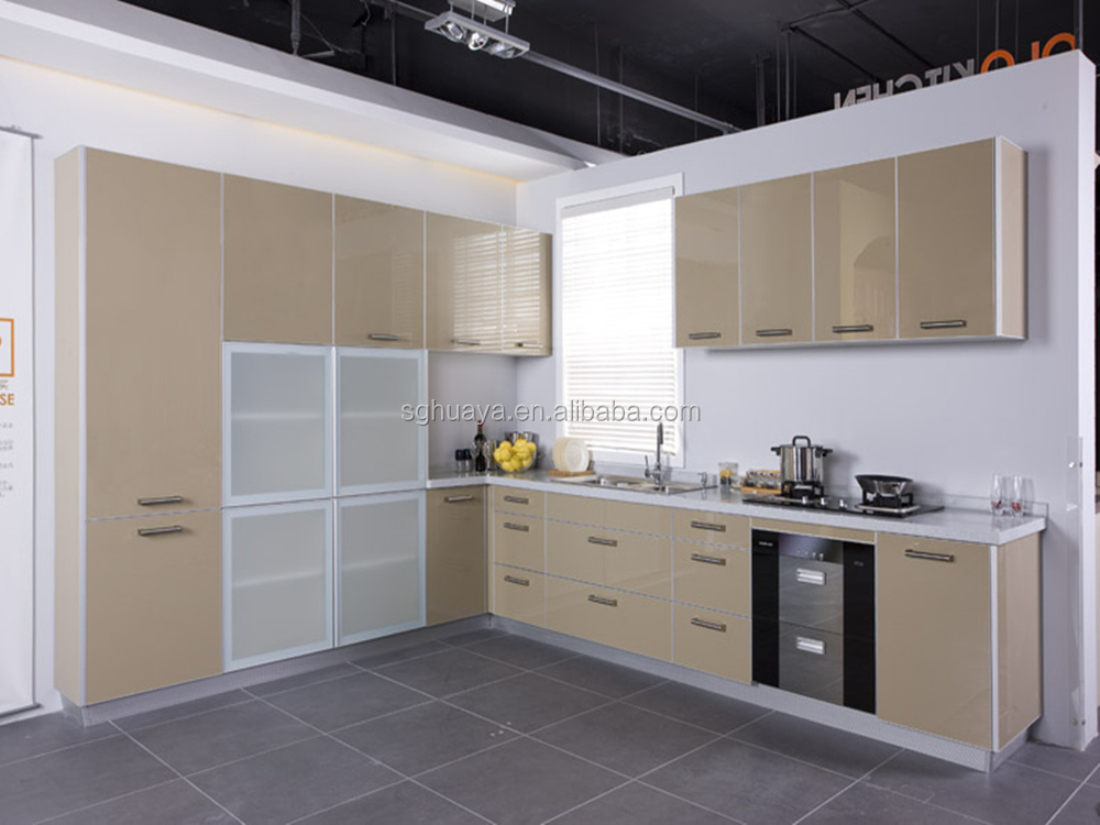 European style modern flat pack kitchen ready made for Ready made kitchen cupboards