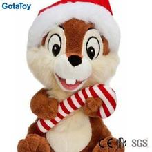 Custom plush christmas plush animal squirrel