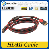 Mycable Metal Plated Supports Ethernet 3D 1.4 2.0 4K super high resolution HDMI cable