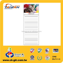 For adverting customized office stationery magnetic note pads magnet