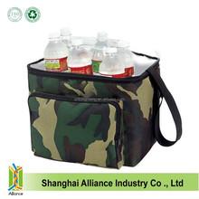 Camo Polyester Lunch Box Cooler Bag Liner Shoulder Strap Travel Camouflage cooler Tote bag