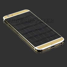 Wholesale 18k 24k gold plated for iphone 6 6 plus housing with skin