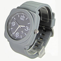 New design watch 3ATM Waterproof Glass Lense stainless steel back Japan movement silicone interchange silicon custom watches