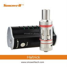 Hot selling latest original smowell hatrick e cig vape mod tanks in stock vs vamo atomizer